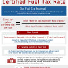 Certified Fuel Tax Rate Proposal