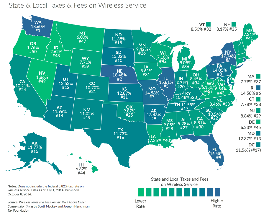wireless taxes MAP